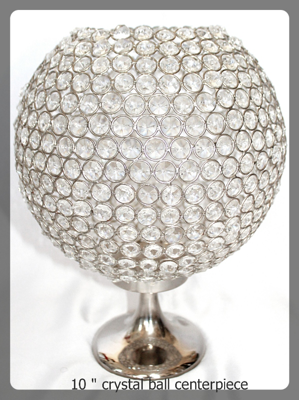 10 inch crystal ball centerpiece