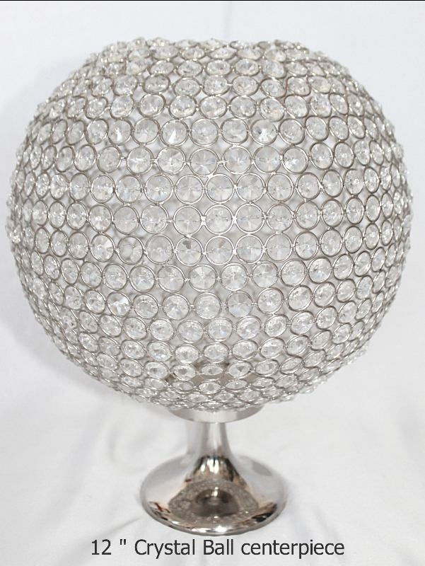 12 inch crystal ball centerpiece