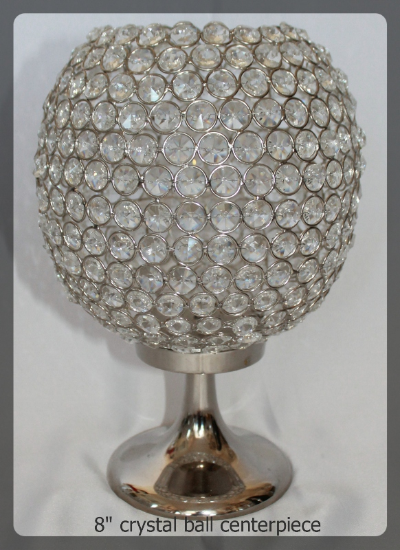 8 inch crystal ball centerpiece