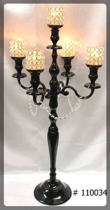 Black-Candelabras-40-inch-tall-5th-candle-5-crystal-votives-110034
