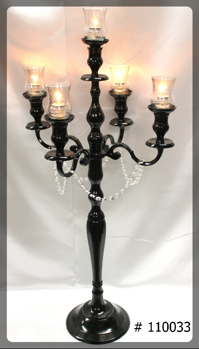Black-Candelabras-39-inch-tall-w-5th-candle-5-glass-votives-110033