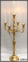 Candelabra-Gold-5-Taper-Led-Candles-with-crystals-on-arms-XL-45-inches-tall