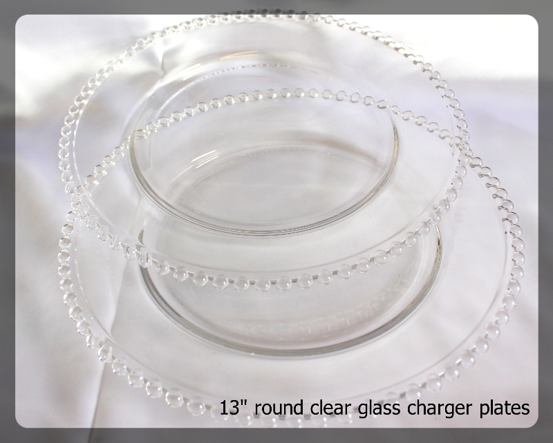 charger plates clear 13 inch round