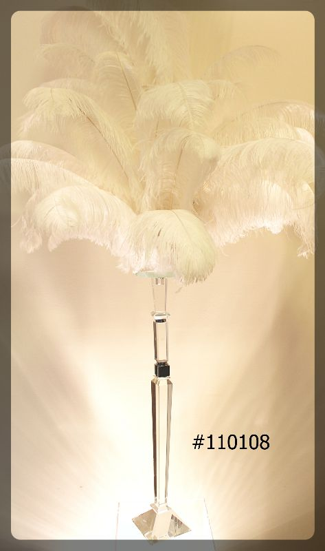 crystal-candelabra-stand-33-inch-tall-with-6-inch-plate-with-ostrich-feathers-65-inch-total-height-110108