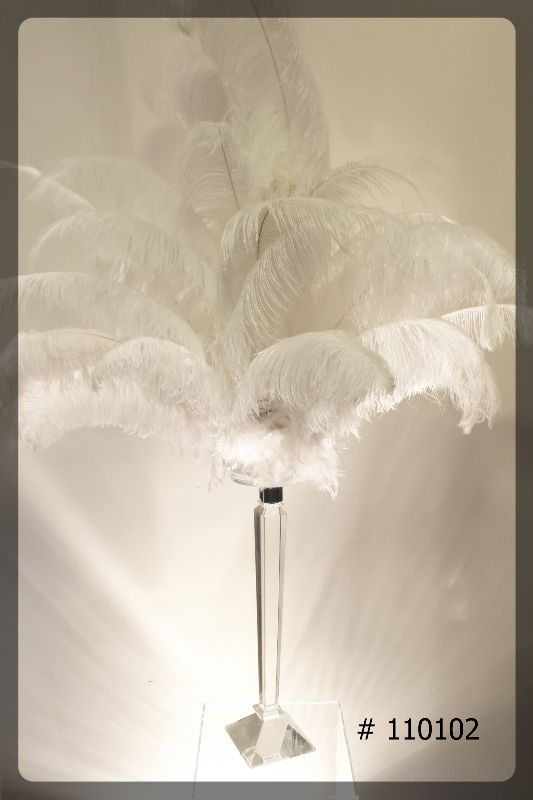 crystal-stand-23-inch-with-6-inch-plate-with-ostrich-feathers-total-56-inches-high-110102