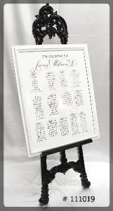 easel-black-63-inch-with-seating-chart-111019. Toronto, Ontario, Canada