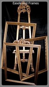 Easels and frames event rentals