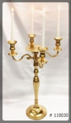 Gold-Candelabra-30-inch-tall-with-7-inch-plate-and-4-taper-Led-Candles-110030
