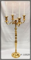 Gold-Candelabra-39-inch-tall-with-7-inch-plate-and-4-Taper-led-lights-110029