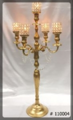 Gold-Candelabra-with-5-crystal-votives-38-inches-tall-110004
