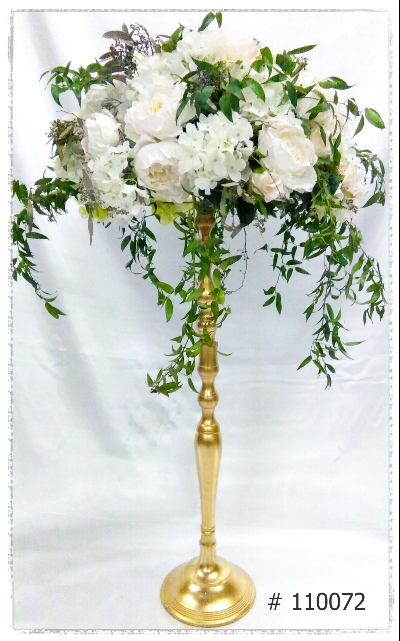 flower stand gold-35-inches-tall-with-7-inch-plate-for-flower-arrangement. Toronto, Ontario, Canada