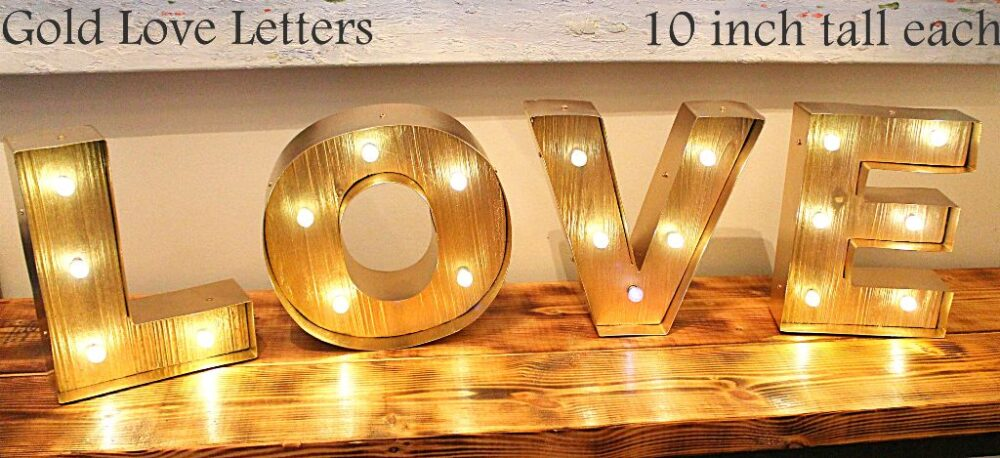 Love Letters for head tables.