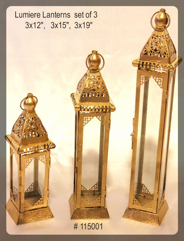 Lumiere Lanterns set of 3 3x12, 3x15 and 3x19 inches # 115001