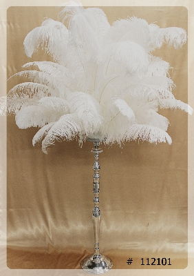 ostrich-feather-centerpiece-with-beautiful-silver-metal-stand-65-inch-tall-112101