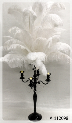 ostrich-feather-centerpiece-with-black-candelabra-4-led-lights-flat-65-inch-tall-112099
