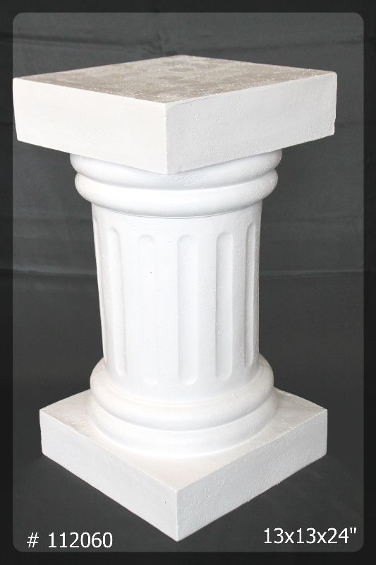 pedestal White 24 inch tall # 112060