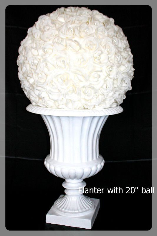 Planter White 24 inch tall