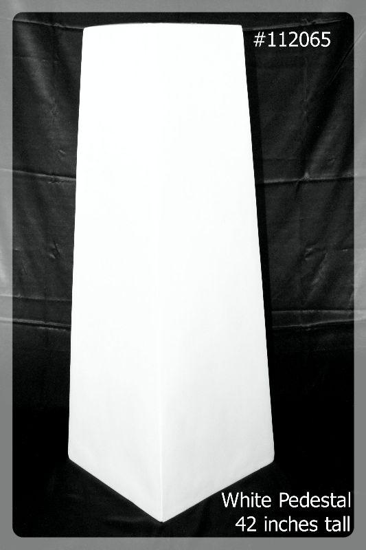 White Pedestal 42 inches tall # 112065