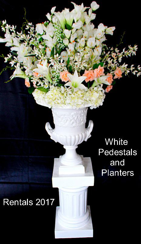 planter with pedestal flowers 2017 furniture rental