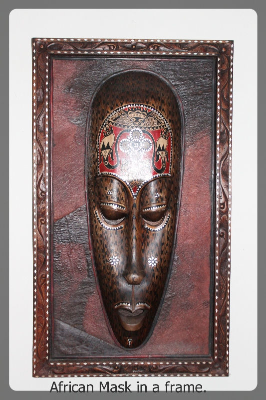 African Mask in a Frame furniture rental