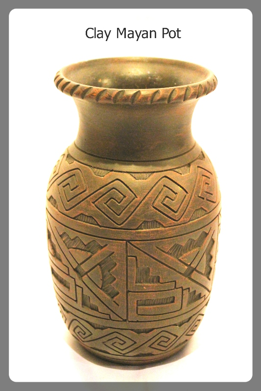 Clay Mayan Pot furniture rental