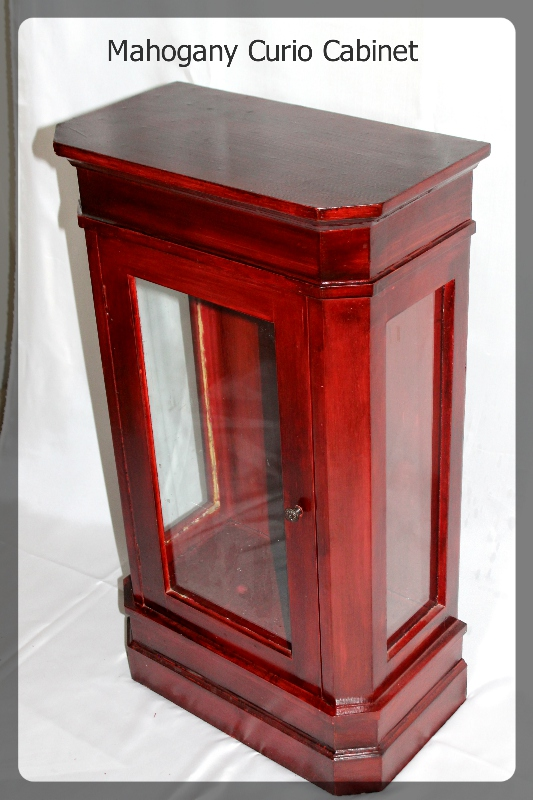 Mahogany Curio Cabinet furniture rental