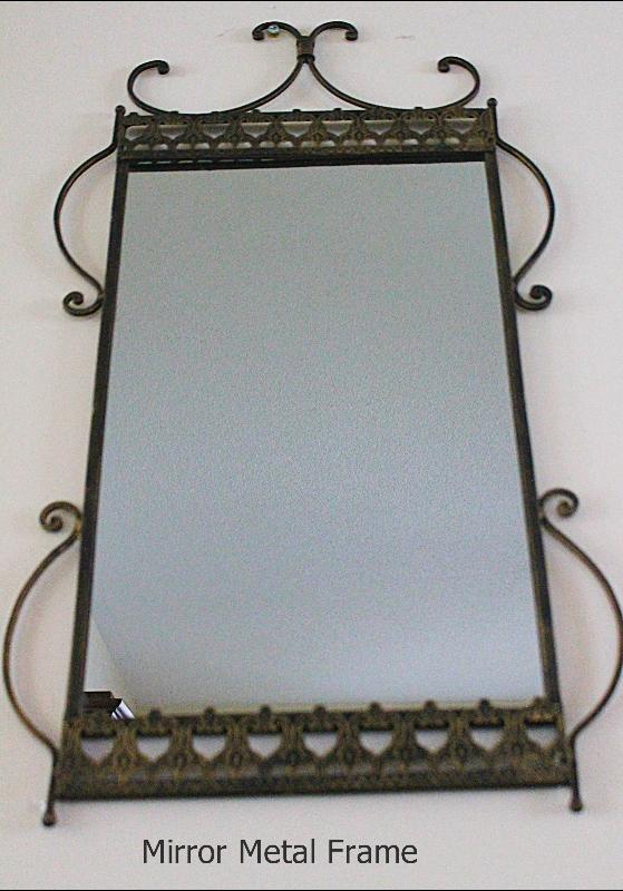 Mirror Metal Frame furniture rental