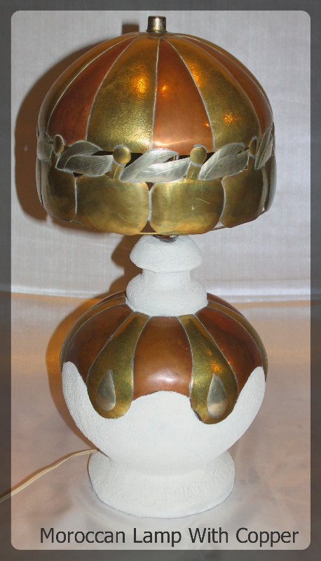 Moroccan Lamp with Copper furniture rental