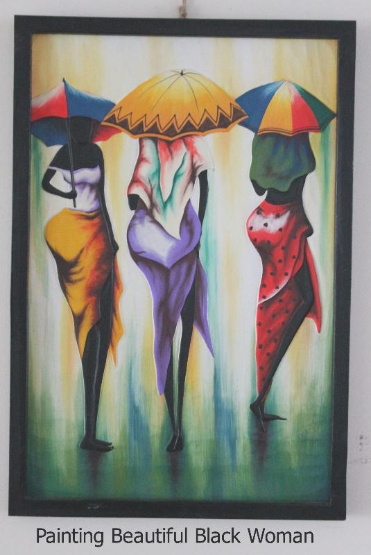 Painting Beautiful African Woman furniture rental
