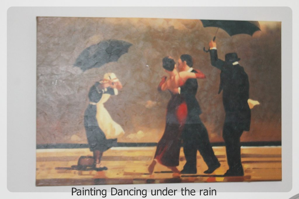 Painting Dancing under the rain