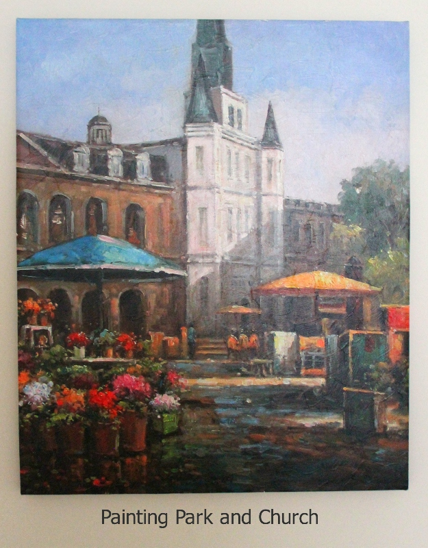 Painting Park and Church furniture rental