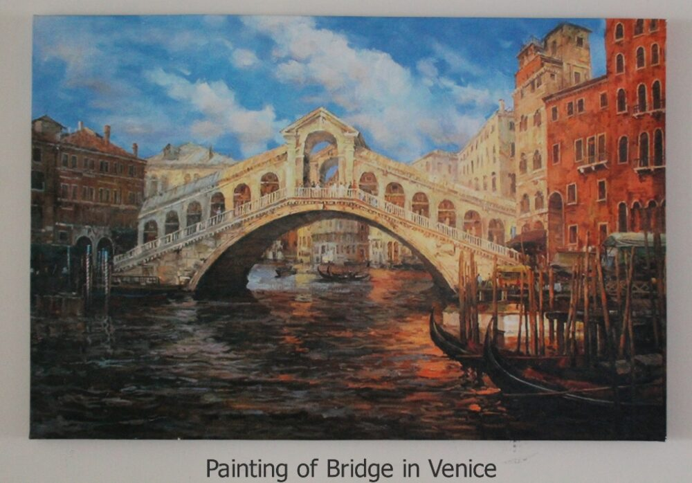 Painting of Bridge in Venice furniture rental
