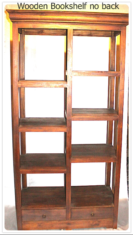 Wooden Bookshelf large furniture rental