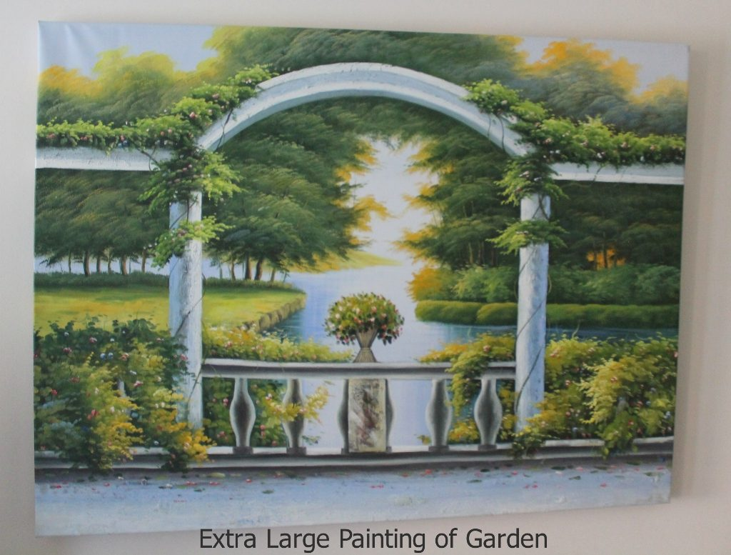 extra large painting of Garden furniture rental