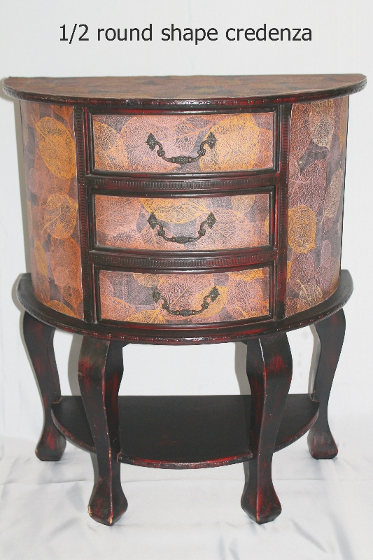 half moon credenza furniture rental