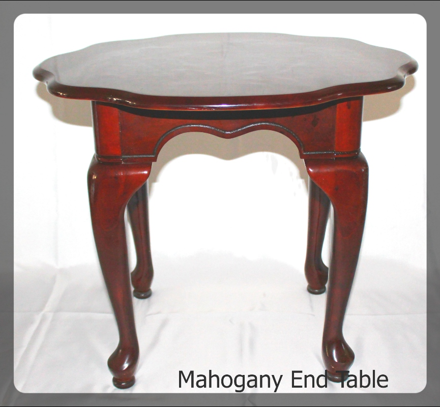 mahogany end table furniture rental