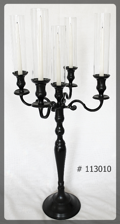 Black Candelabra for taper candles