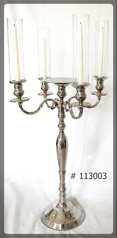 Silver candelabras for taper candles