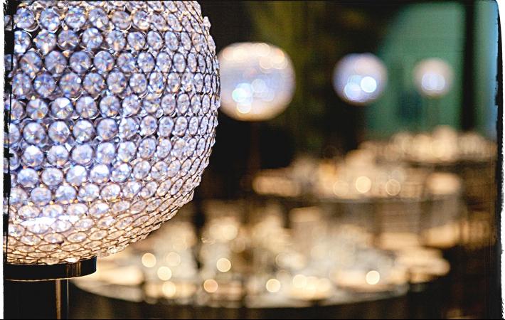 Crystal Ball Centerpieces. Toronto, Ontario.