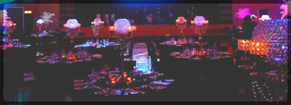 crystal ball centerpieces gala. Toronto, Ontario, Canada.