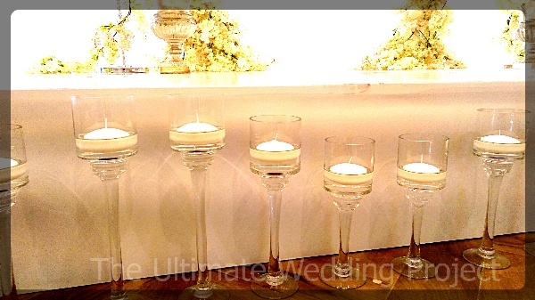Candel holders with stems in 3 different sizes