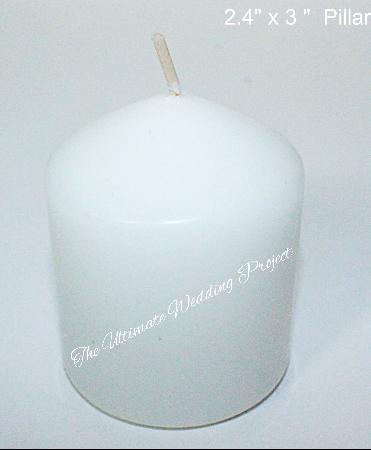 2.4x3 inch pillar candle