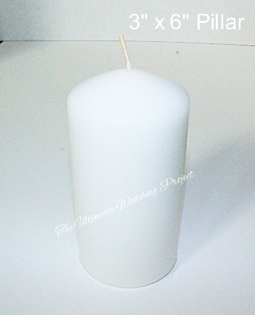 3x6 inch pillar candle