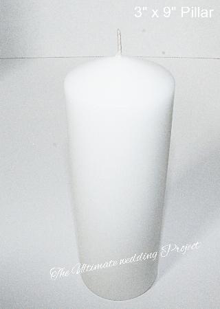 3x9 inch pillar candle