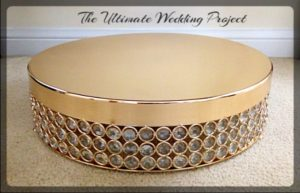 Gold Cake Stands 16 inches round
