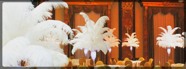Ostrich Feather centerpieces page