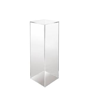 Plinth acrylic clear 12x12x36 inch