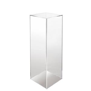 Plinth 12x12x48 acrylic clear