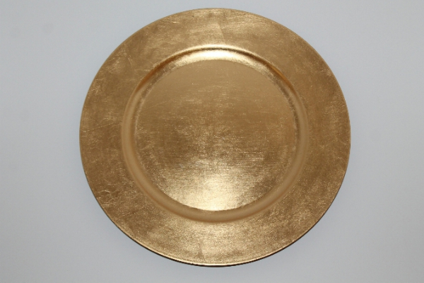 Gold Charger plate Plexi