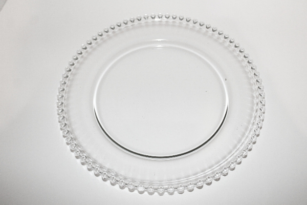 Clear Beded Charger plate 13 inch round